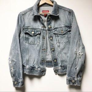 H&M Distressed Jean Jacket Size Medium